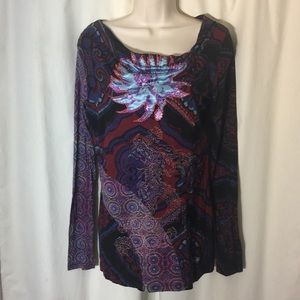 Desigual embroidered tunic top gorgeous colors !!!